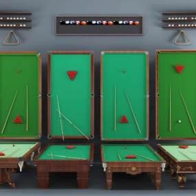 欧式台球台球桌组合3D模型【ID:331617830】