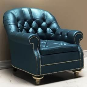 新古典单人沙发3D模型【ID:634845438】