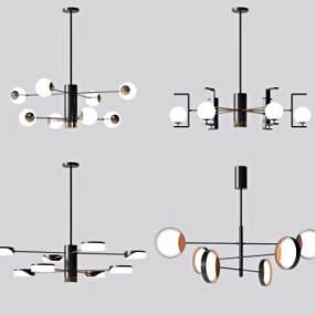 現代吊燈組合3D模型【ID:748184812】