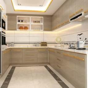 现代厨房3D模型【ID:542414395】