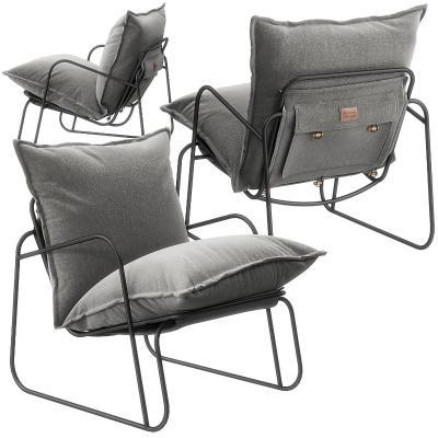 现代布艺休闲椅3D模型【ID:742171063】
