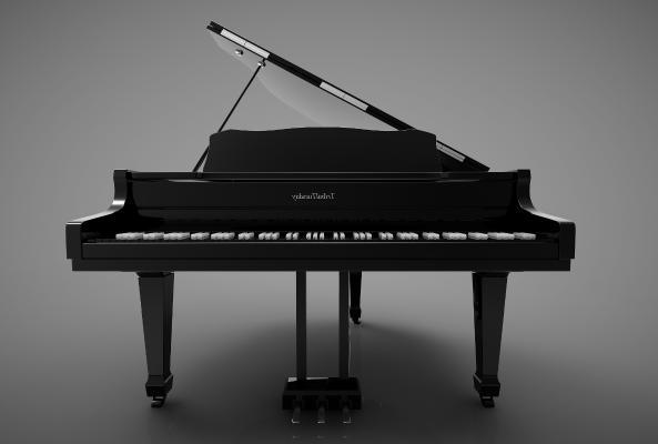 现代风格钢琴3D模型【ID:345476966】