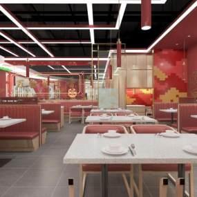 現代餐廳3D模型【ID:653259236】