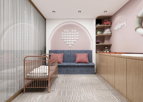 現代母嬰室3D模型【ID:945876538】