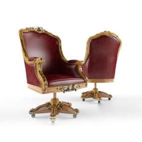 欧式办公椅3D模型【ID:732251464】