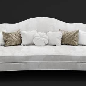 现代绒布沙发3D模型【ID:635279684】