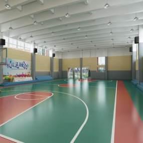 現代室內籃球館3D模型【ID:948060665】