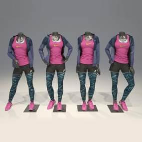 现代Nike服装模特3D模型【ID:332916070】