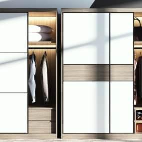 现代衣柜组合3D模型【ID:149127405】