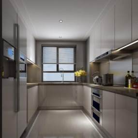 现代厨房3D模型【ID:535777392】
