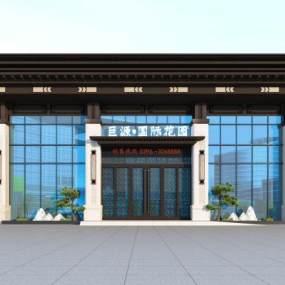 新中式外观3D模型【ID:250873467】