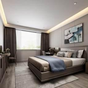 后现代卧室3D模型【ID:535960295】