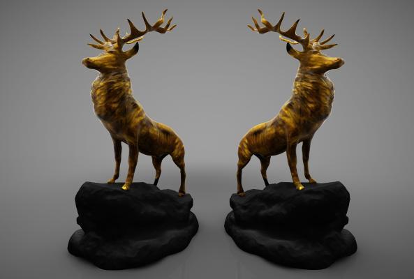 現代風格裝飾品3D模型【ID:248660583】