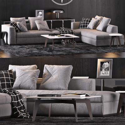 意大利Minotti现代沙发组合国外3D模型【ID:632170786】