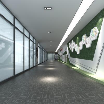 現代公司過道3D模型【ID:941708503】