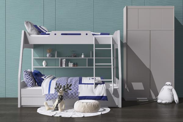 現代兒童床3D模型【ID:849038868】
