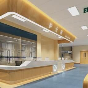 現代風格醫院護士站3D模型【ID:150857627】
