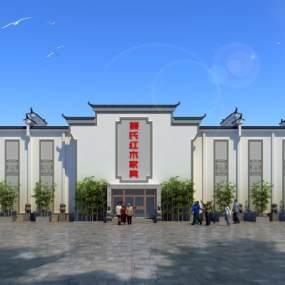 新中式徽派建筑家具城3D模型【ID:135224645】