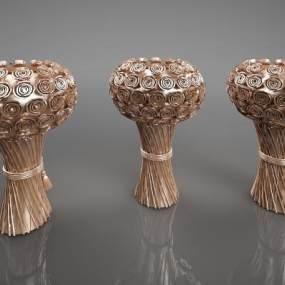 新中式花瓶艺术摆件3D模型【ID:234675581】