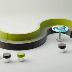 现代S沙发组合3D模型【ID:645528774】