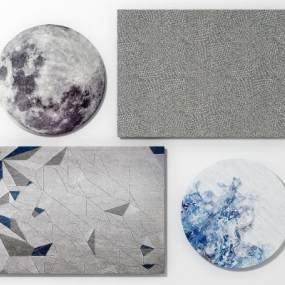 现代地毯组合3D模型【ID:333473249】