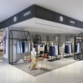 现代女装服装店3D模型【ID:148398061】