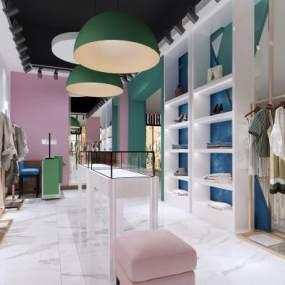 现代服装店3D模型【ID:148722064】