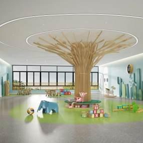现代幼儿园活动区3D模型【ID:935979609】