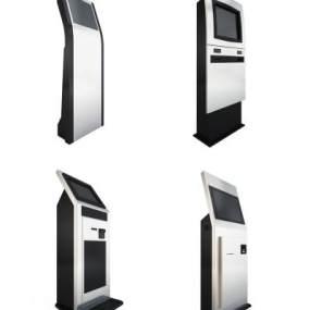 现代自助挂号排号排队取号机3D模型【ID:435459514】