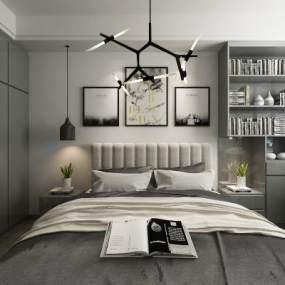 现代卧室3D模型【ID:531621225】
