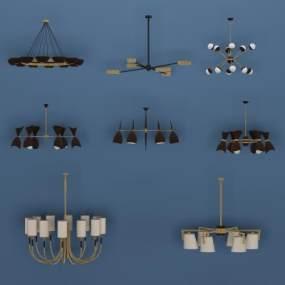 北欧吊灯3D模型【ID:731518813】