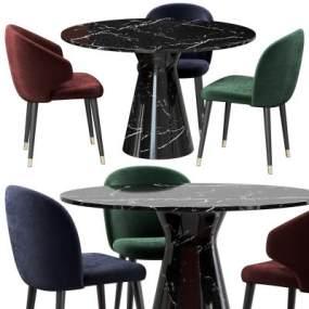 现代餐桌椅3D模型【ID:753325121】