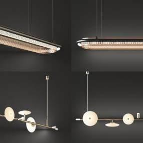 現代吊燈組合3D模型【ID:748985811】