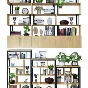 现代书柜3d模型【ID:142568572】