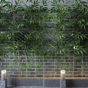 新中式竹子3D模型【ID:253321835】