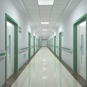 现代医院走廊3D模型【ID:133192232】