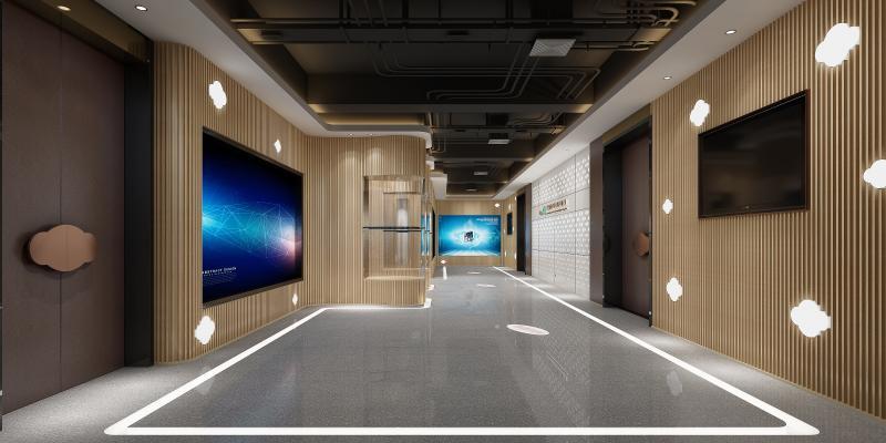現代走廊3D模型【ID:951102981】