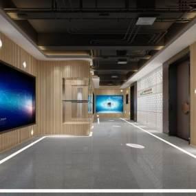 现代走廊3D模型【ID:951102981】