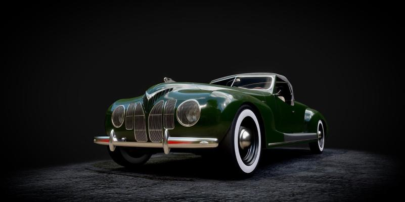 現代復古風格老爺車3D模型【ID:441484747】