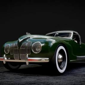 現代復古風格老爺車 3D模型【ID:441484747】