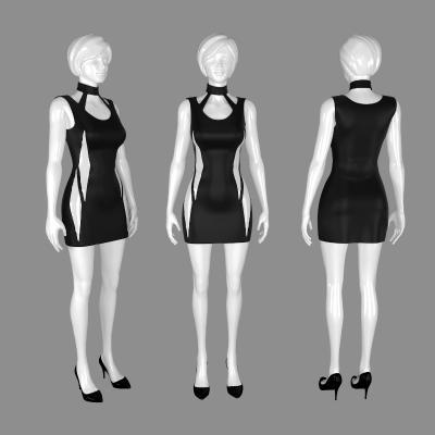 现代服装模特