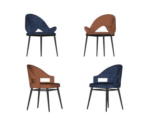 现代轻奢休闲单椅