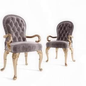 欧式餐椅3D模型【ID:731044198】