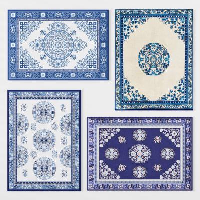 新中式地毯3D模型【ID:342566234】