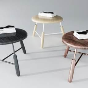 现代凳子组合3D模型【ID:751111648】