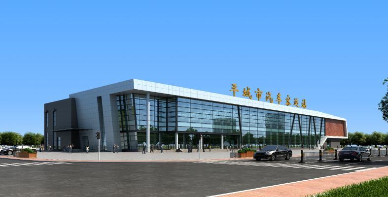现代客运站中心3D模型【ID:143648998】