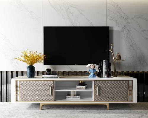現代電視柜3D模型【ID:947058932】