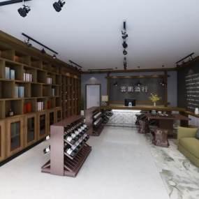 现代烟酒店3D模型【ID:932717800】