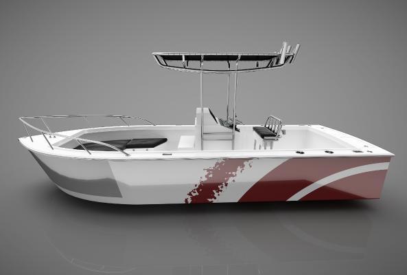 現代風格小船3D模型【ID:443141848】