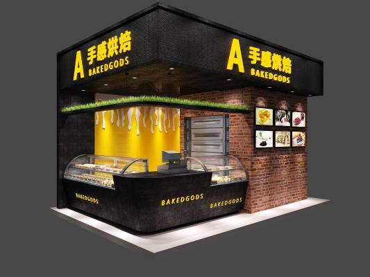现代烘培店3D模型【ID:143299116】